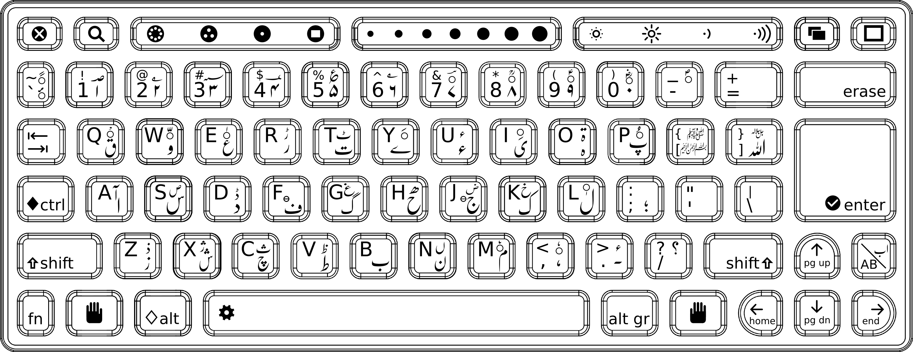 Urdu Inscrpit Keyboard Layout